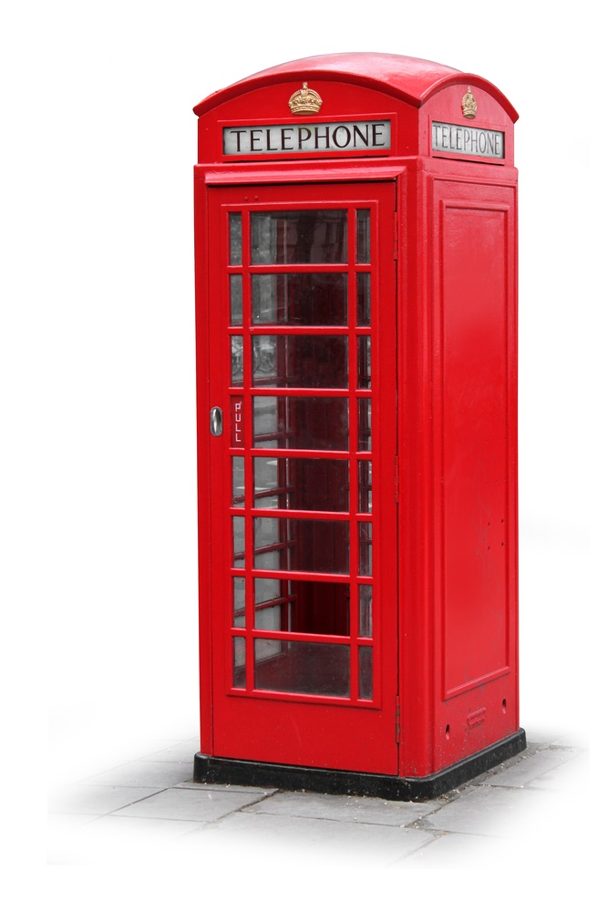 Contact Us page - telephone box